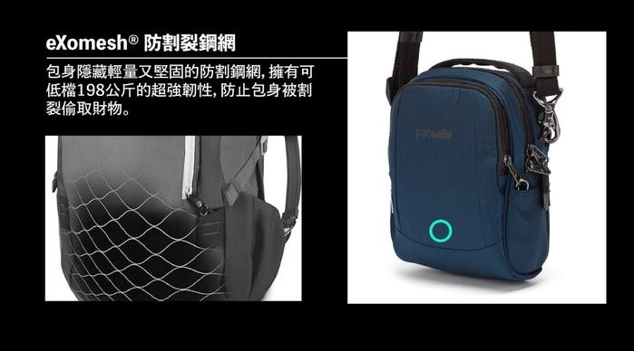 (複製)Pacsafe ECONYL® Metrosafe 都市防盜斜肩包 LS200(範例)