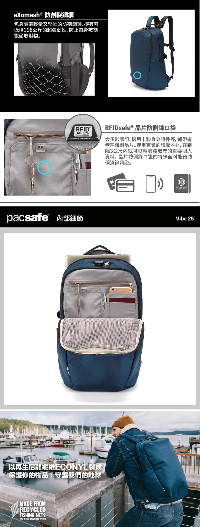 (複製)Pacsafe ECONYL® 再生材質|Metrosafe 都市防盜斜肩包 LS200(範例)