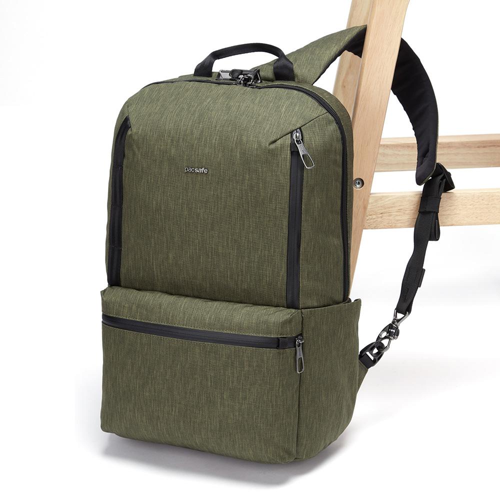 澳洲 Pacsafe|Metrosafe X 都市防盜後背包(20L)綠色