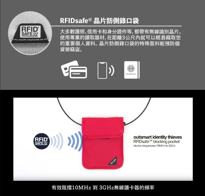 Pacsafe Coversafe X   RFID 防剪掛頸包 X75 2色