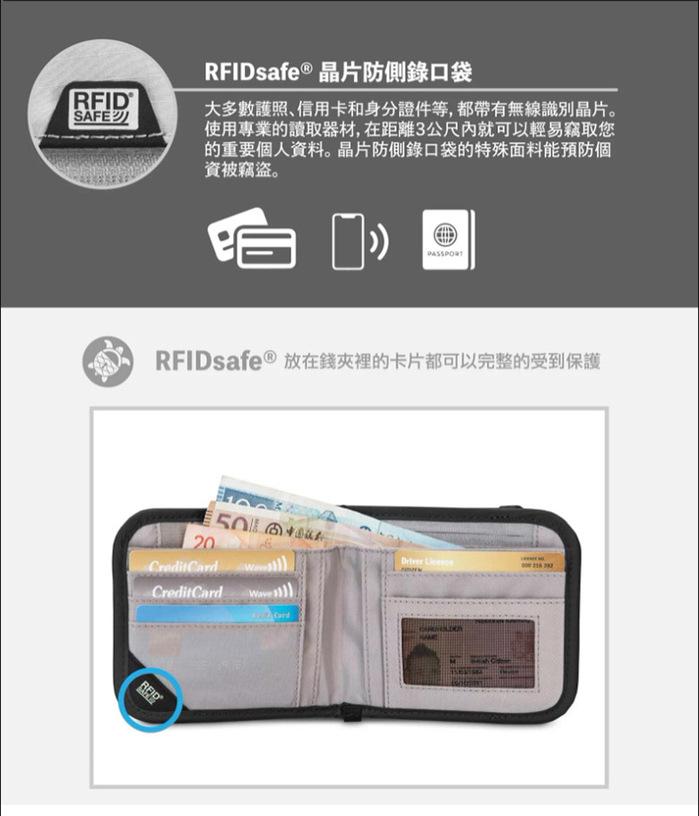 Pacsafe RFIDsafe   晶片防側錄錢夾 V100