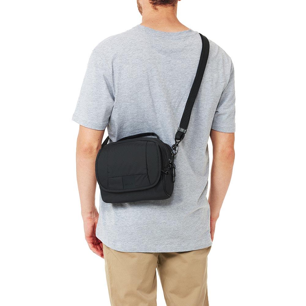 澳洲 Pacsafe Metrosafe休閒防盜斜肩包 LS140(5L)黑色