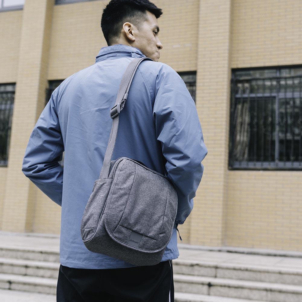 澳洲 Pacsafe|Metrosafe都市防盜斜肩包 LS200(7L)灰色