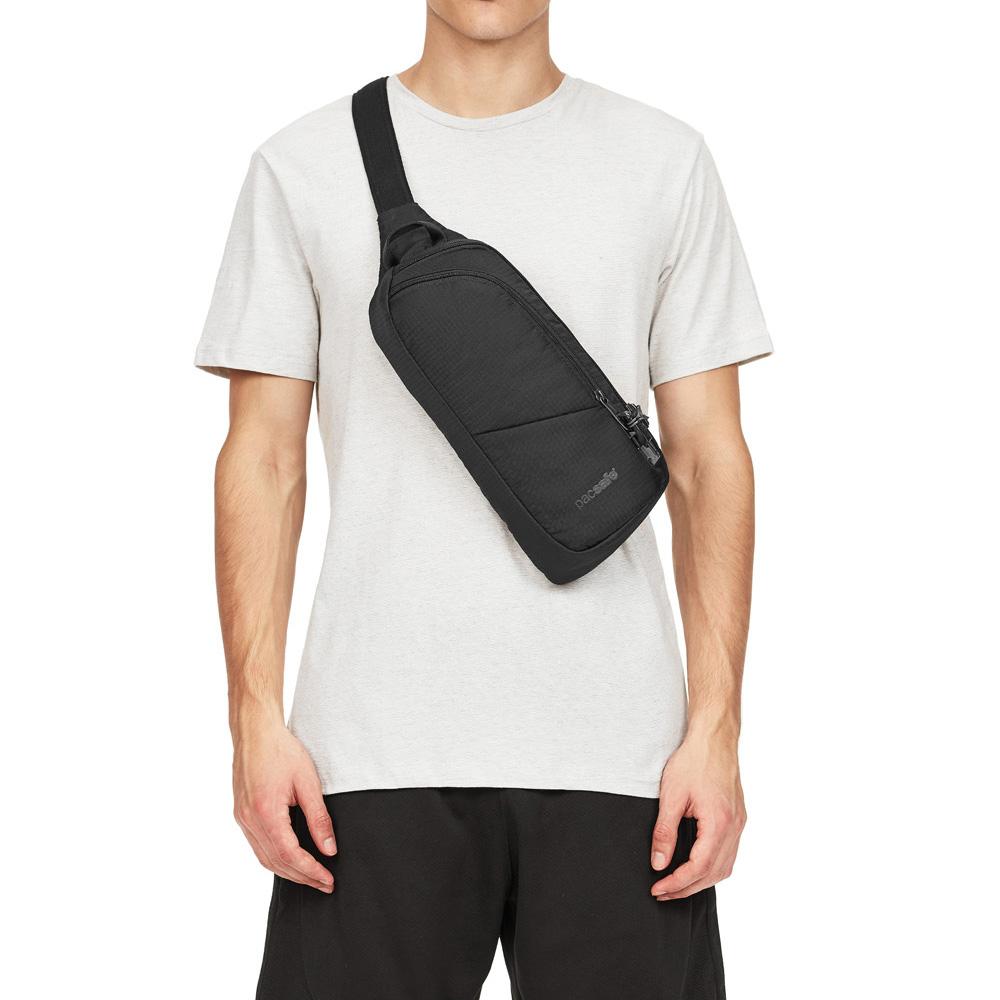 澳洲 Pacsafe|Vibe 150 防盜斜肩包(2L)黑色