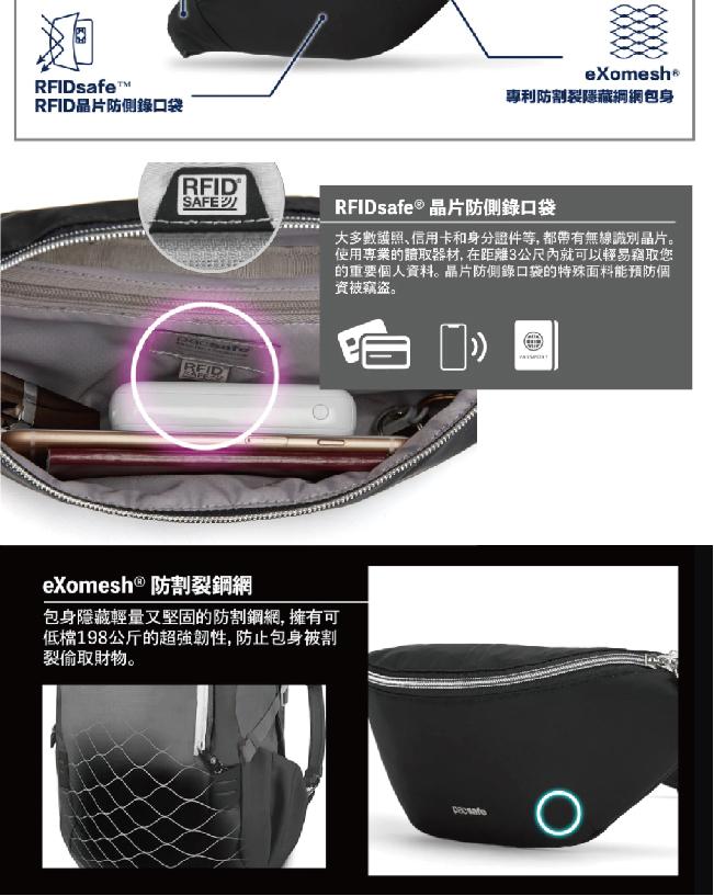 (複製)澳洲 Pacsafe|Citysafe CX 防盜手提後背包(17L)深藍