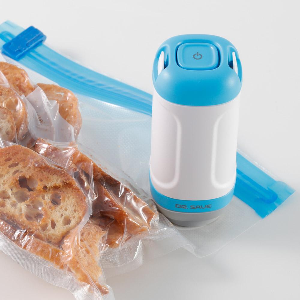 摩肯|DR. SAVE 抽真空機7件組-食物與居家收納組(含5食品保鮮袋+2真空收納袋)