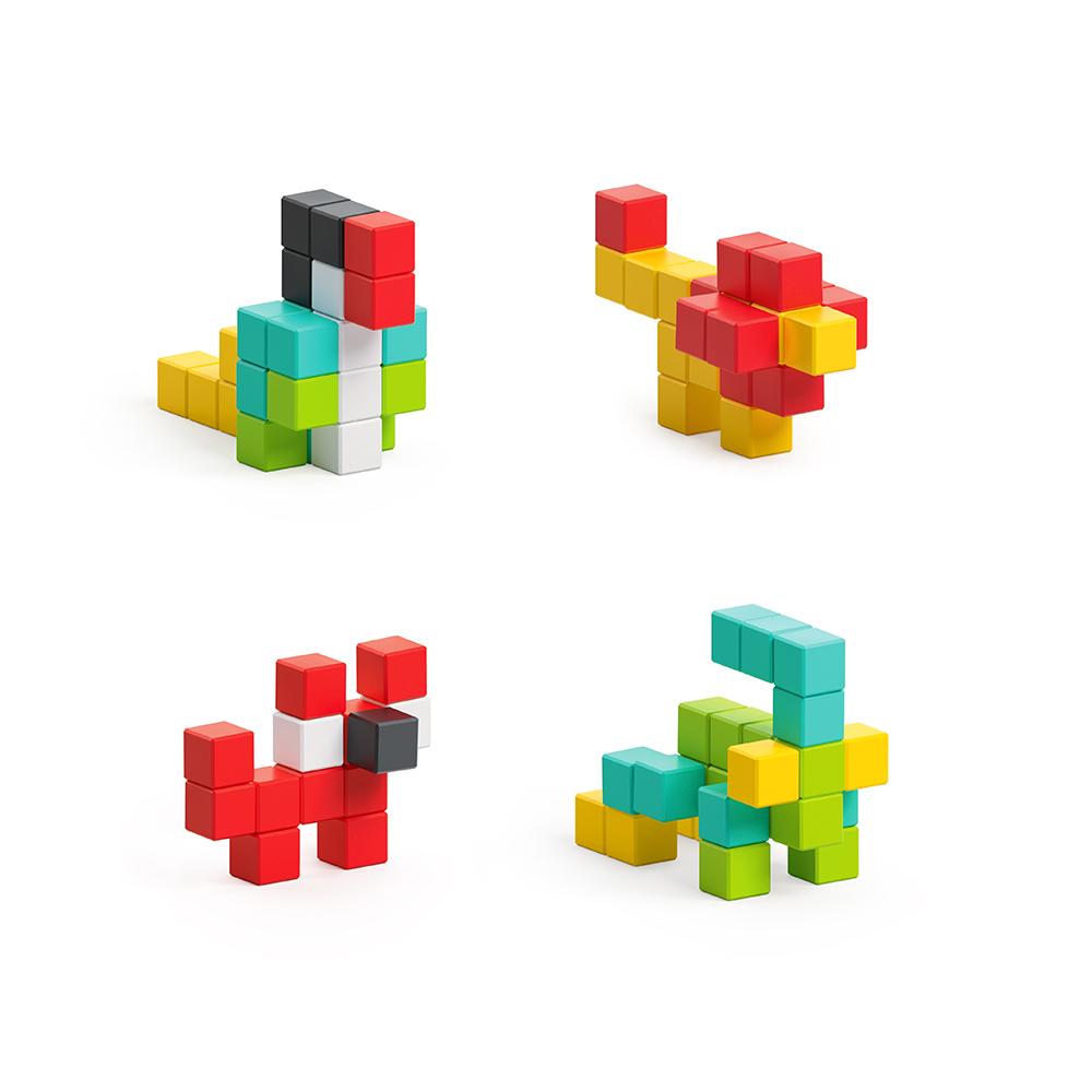 美國Pixio|磁力像素小魔方 設計系列-創意50