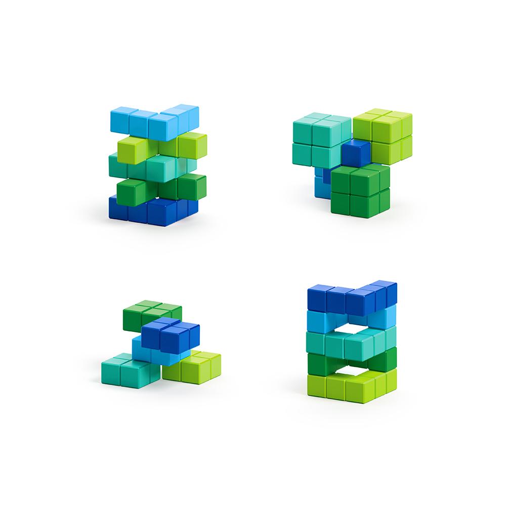 美國Pixio|磁力像素小魔方 抽象系列-晴空草原60