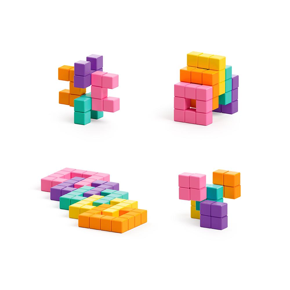 美國Pixio|磁力像素小魔方 抽象系列-繽紛聖代60