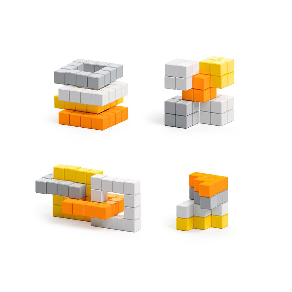 美國Pixio|磁力像素小魔方 抽象系列-香橙蘇打60