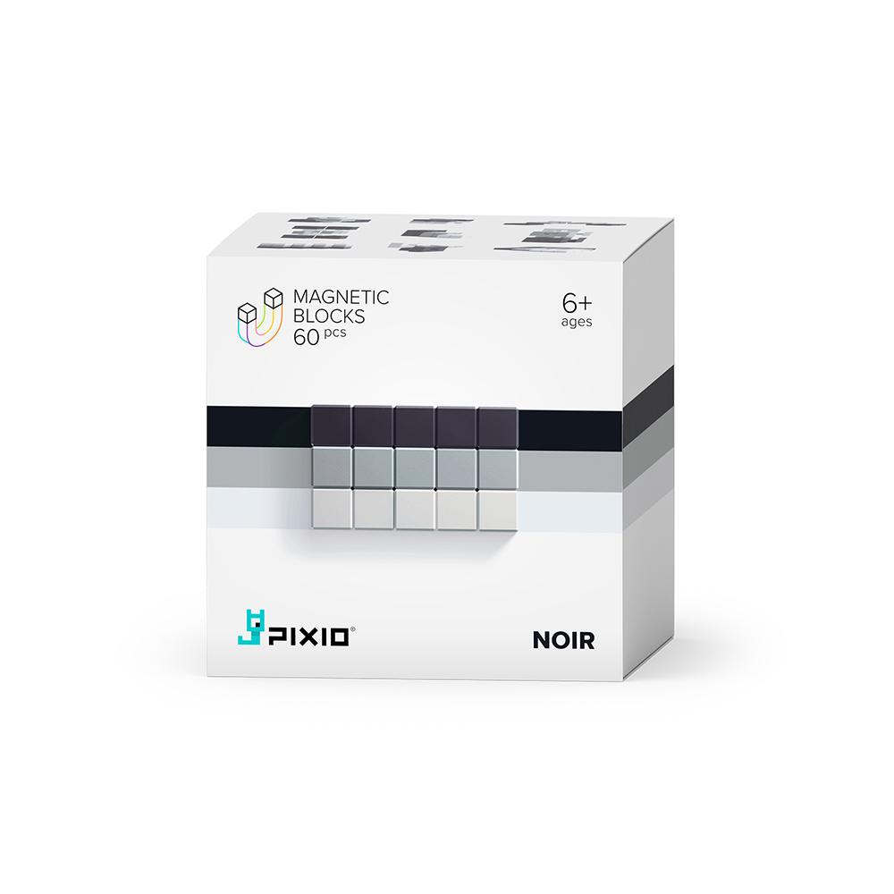 美國Pixio|磁力像素小魔方 抽象系列-黑白簡約60