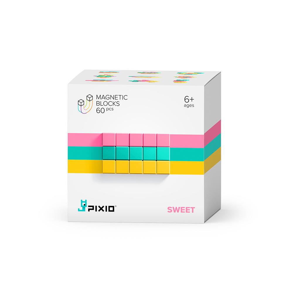 美國Pixio|磁力像素小魔方 抽象系列-粉嫩甜心60