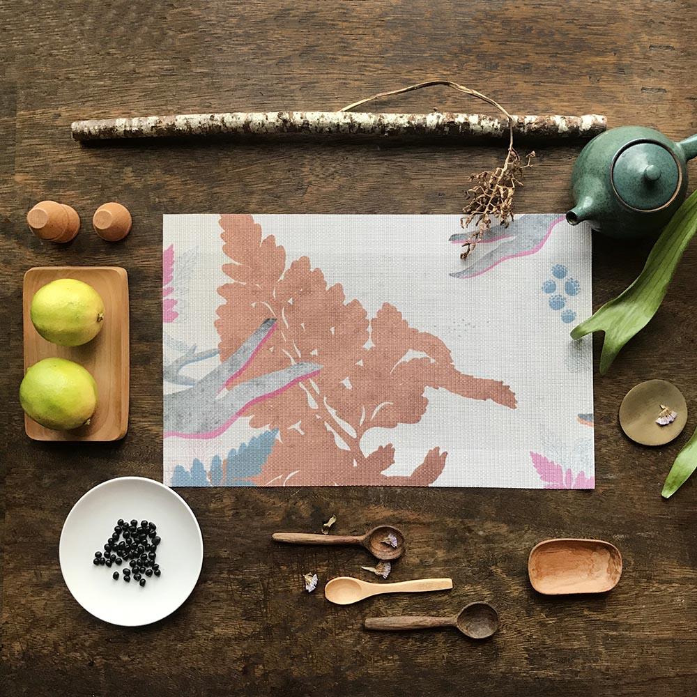 FERN ONLY 蕨類風景餐桌墊-兔腳蕨