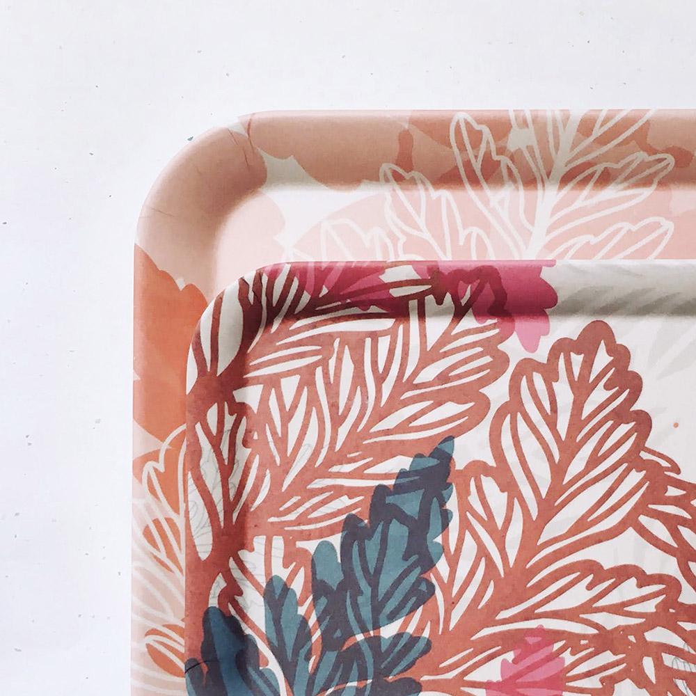 FERN ONLY|蕨景環保萬用托盤-小-兔腳蕨