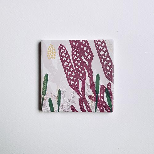 FERN ONLY|蕨色陶瓷杯墊-玉山地刷子