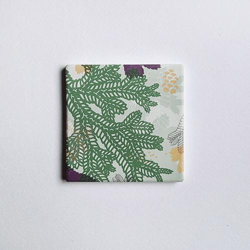 FERN ONLY|蕨色陶瓷杯墊-生根卷柏