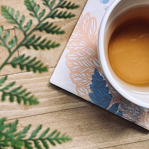 FERN ONLY|蕨色陶瓷杯墊-兔腳蕨