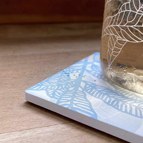 FERN ONLY|蕨色陶瓷杯墊-臺灣原始觀音座蓮