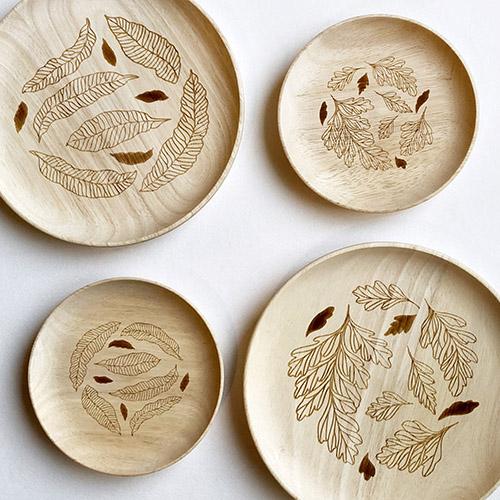 FERN ONLY|蕨盛木盤-小款-兔腳蕨