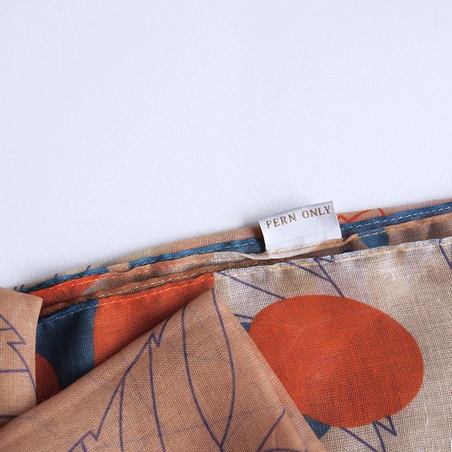 FERN ONLY|蕨印飄逸圍巾-半邊羽裂鳳尾蕨