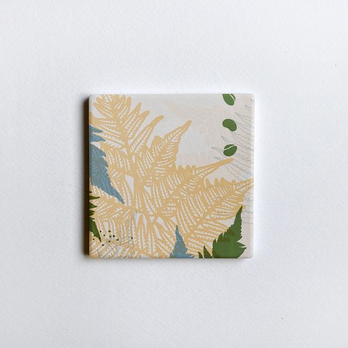 (複製)FERN ONLY|蕨色陶瓷杯墊-生根卷柏