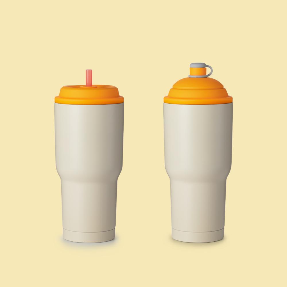 YCCT|保冰杯 900ml - 香橙黃
