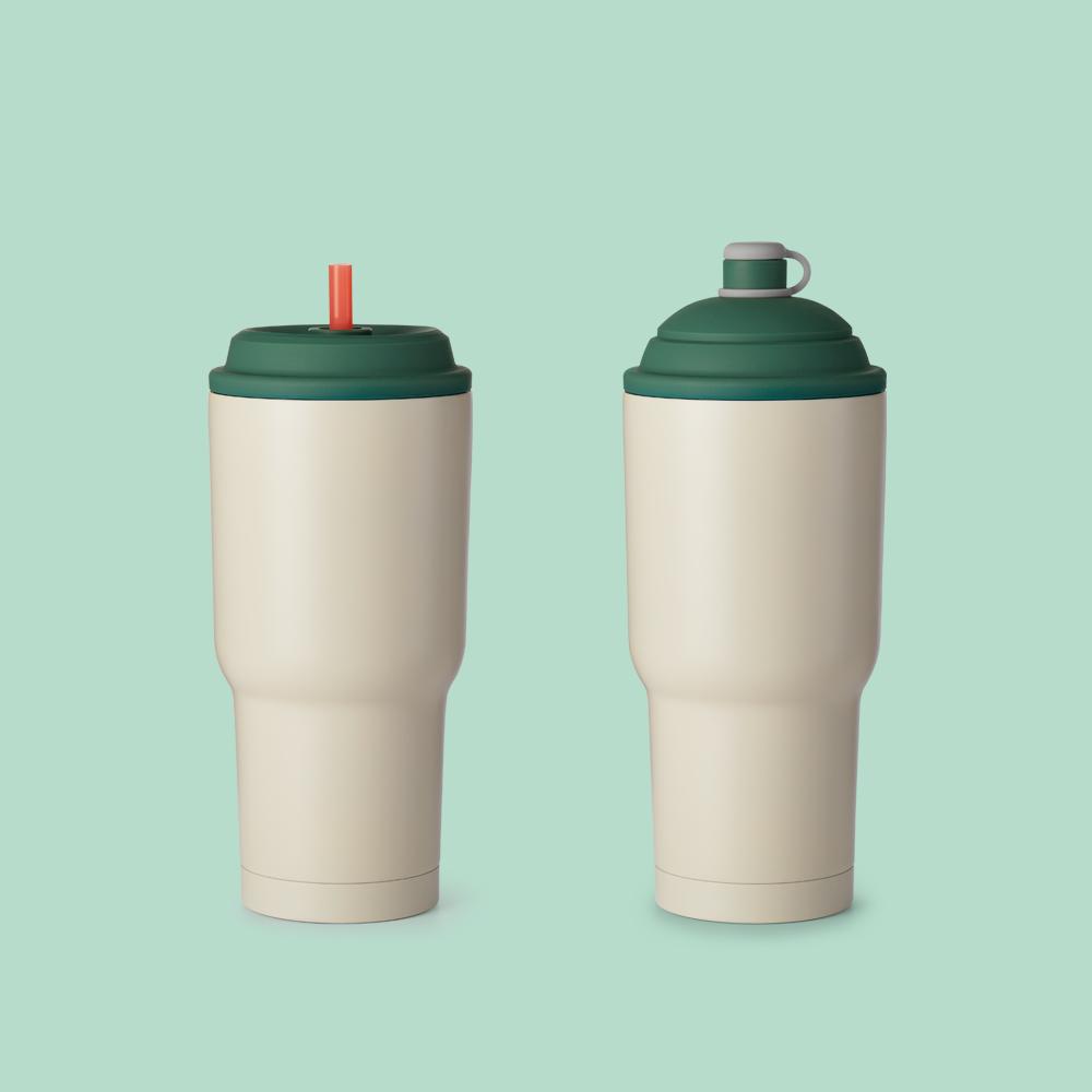 YCCT|保冰杯 900ml - 厚藻綠