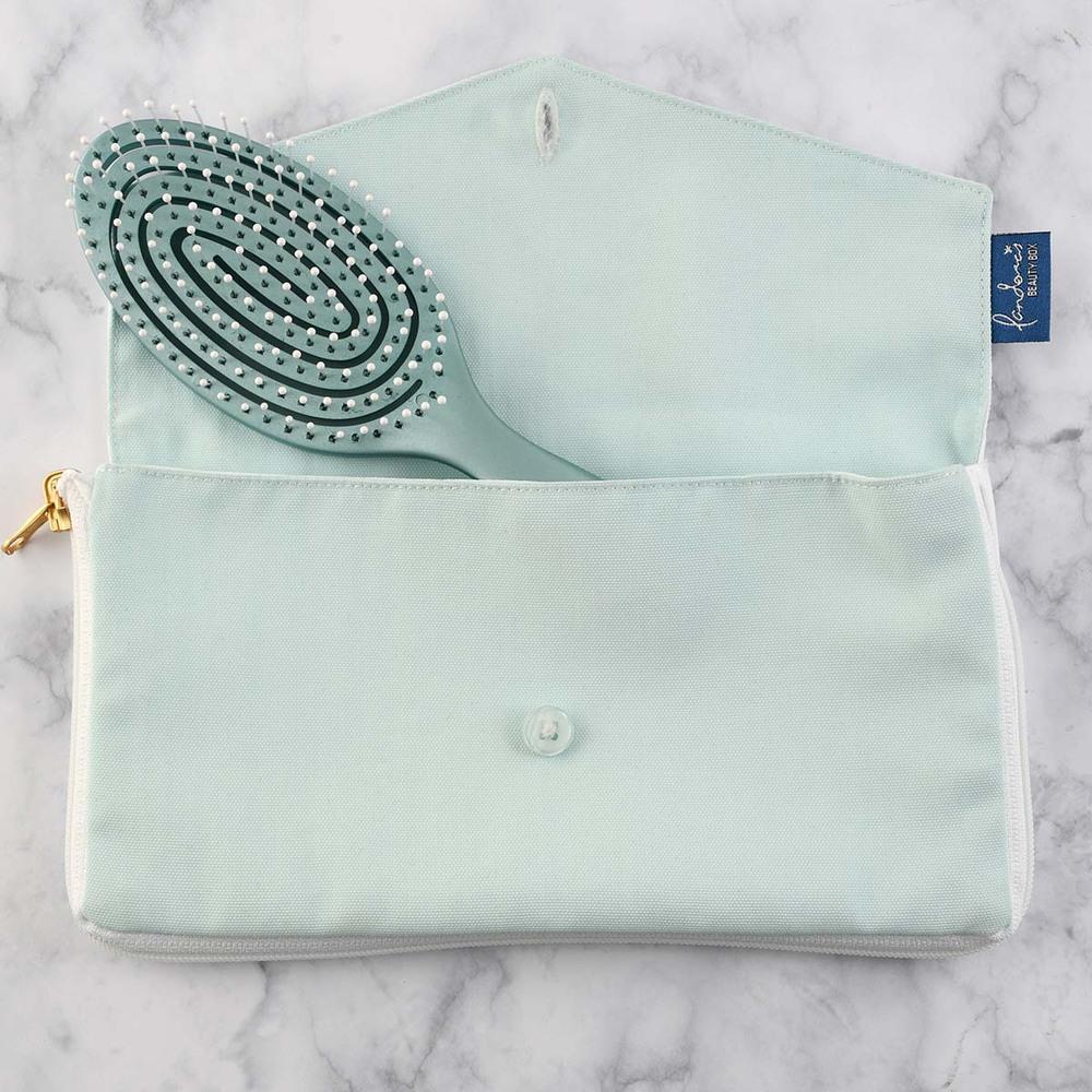 Pandora's Beauty Box|3D機能彈性梳子化妝包-櫻花粉/冰河藍