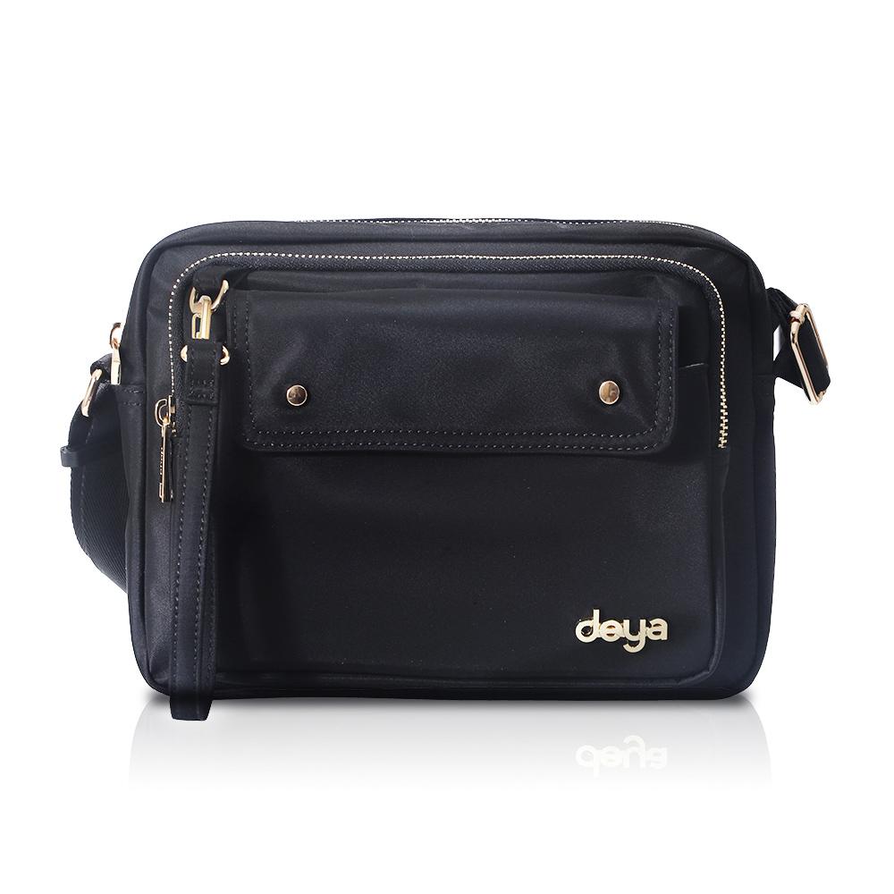 deya|chic系列 渾然經典-斜肩包 - 黑色