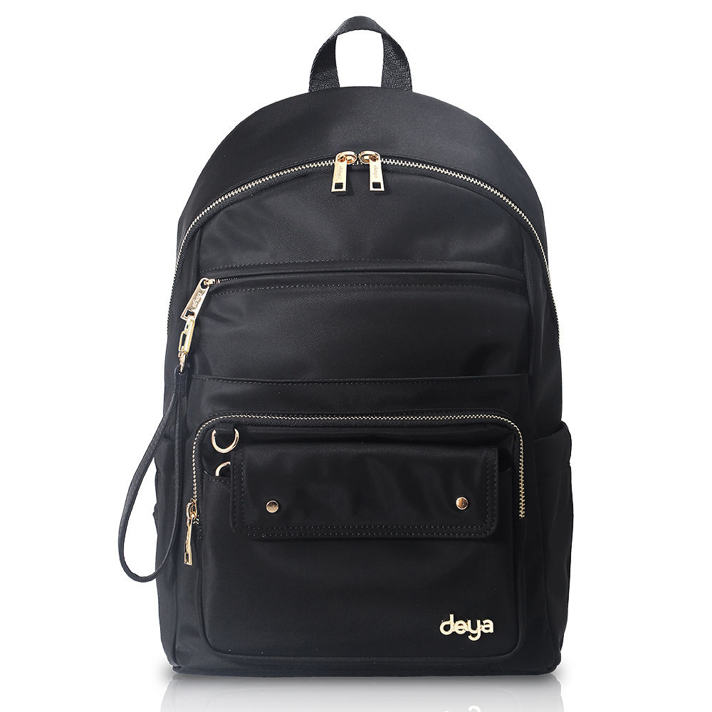 deya|chic系列 渾然經典-雙肩後背包 - 黑色