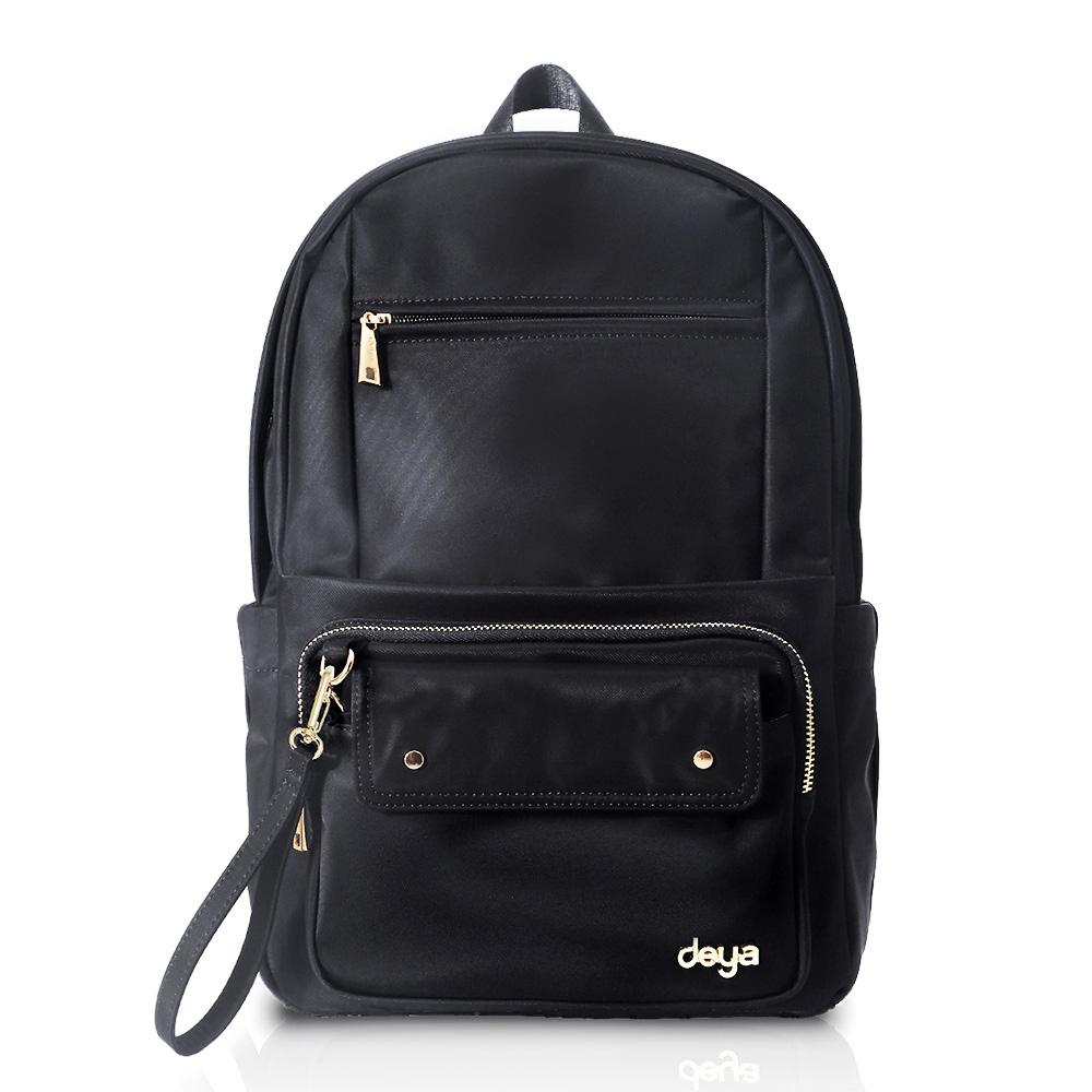 deya chic系列 渾然經典-直式後背包-黑色(台灣製)