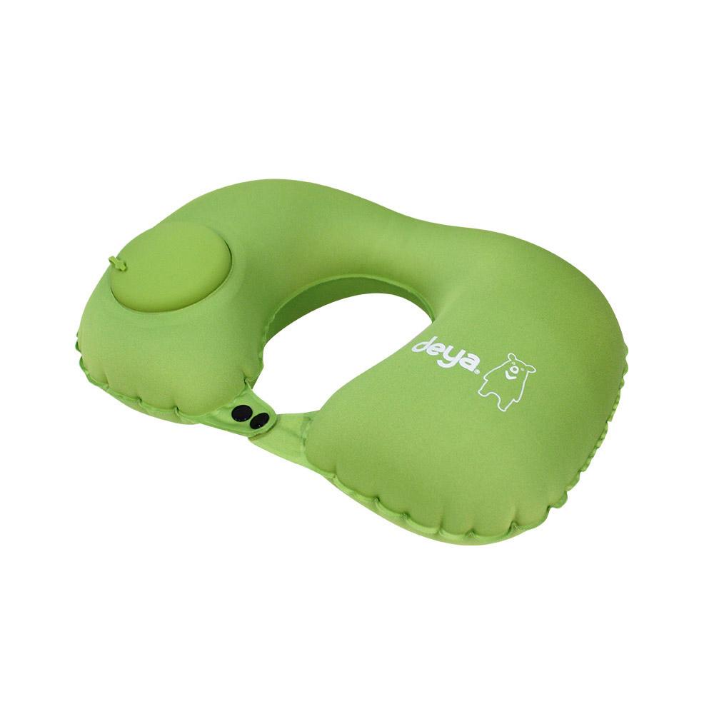 deya 按壓式充氣U型肩頸枕-兩色可選