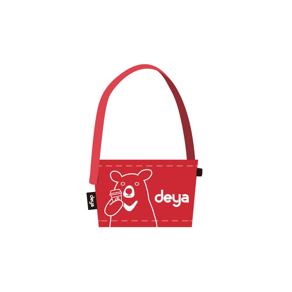 deya|熊咖啡提袋-紅