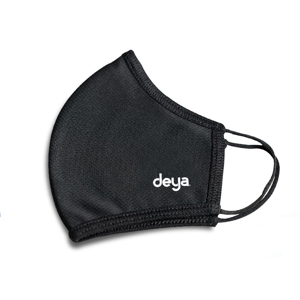 deya|3D強效防護抗菌布口罩-曜石黑(三入)