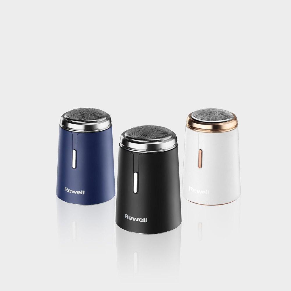 Rewell|USB 可水洗迷你電動刮鬍刀-兩入(三色任選)