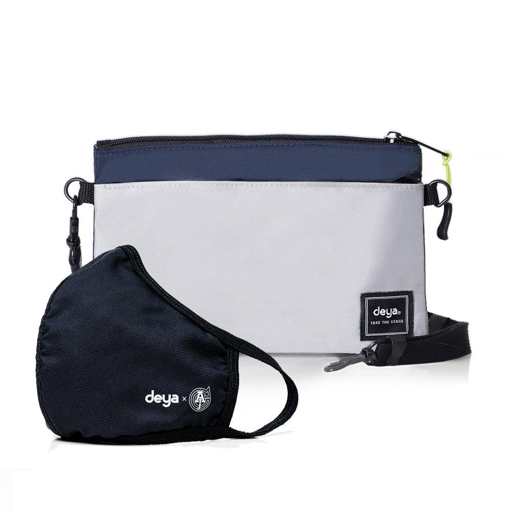 deya|Multi-way收納控抗菌Mini手拿斜背包+3D立體涼感抗菌布口罩x1