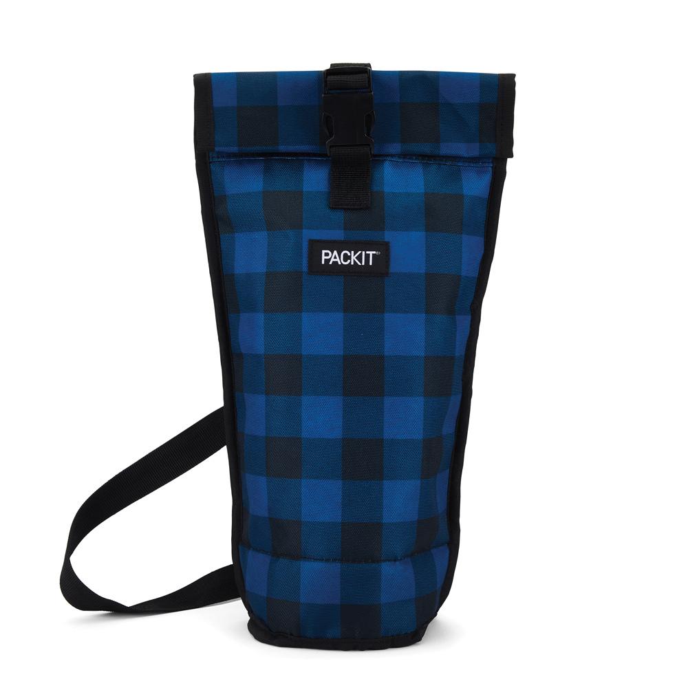 PACKIT|冰酷 品酒單瓶冷藏肩背袋(英倫藍格)