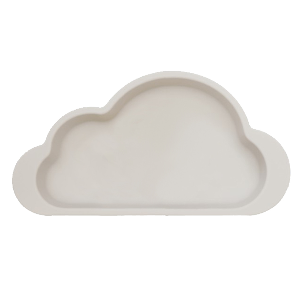 Mother's Corn 雲朵單格矽膠餐盤(天空灰)