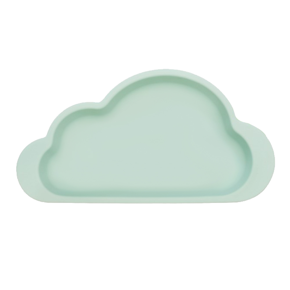Mother's Corn|雲朵單格矽膠餐盤(湖水綠)