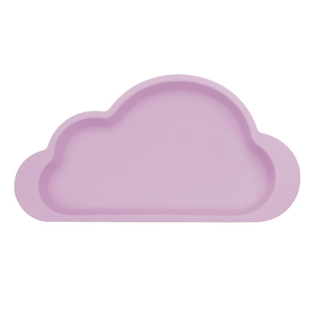 Mother's Corn|雲朵單格矽膠餐盤(薰衣草紫)