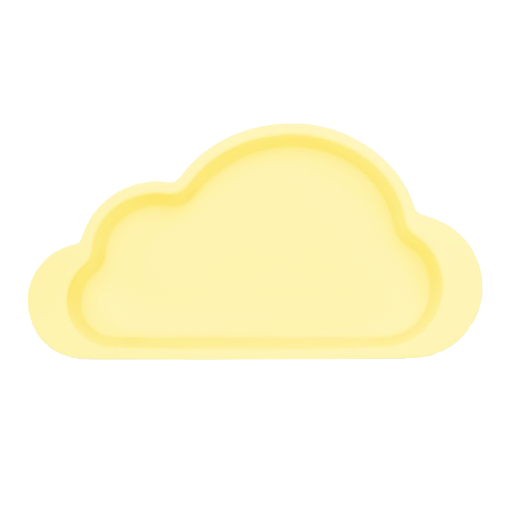 Mother's Corn 雲朵單格矽膠餐盤(鵝蛋黃)