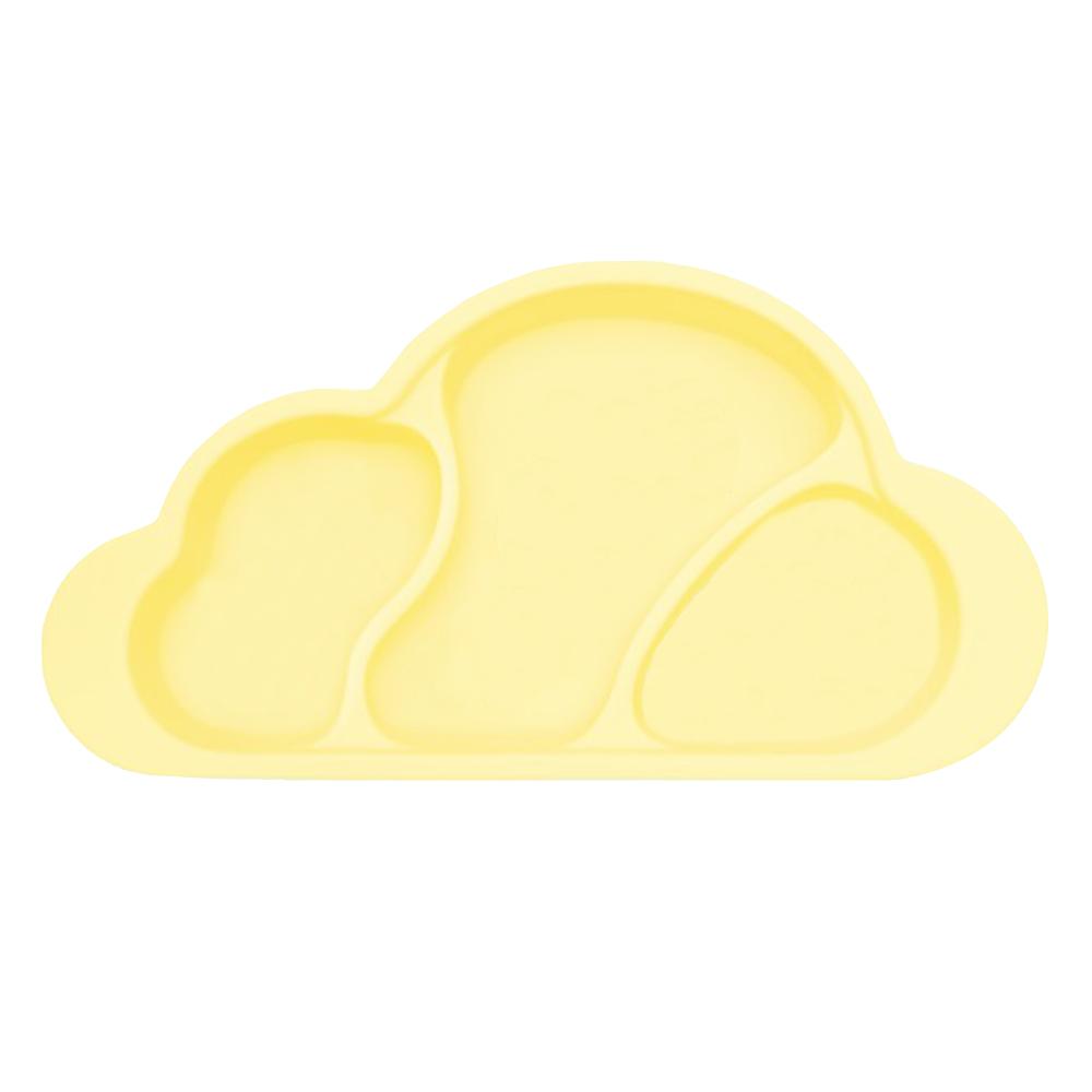 Mother's Corn 雲朵分隔矽膠餐盤(鵝蛋黃)