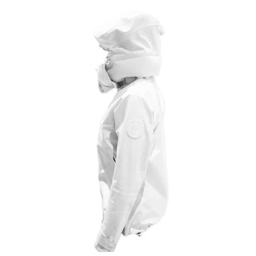 AirOgo|Pilloon 多用途內附頸枕旅行外套 (男款) - 極地白