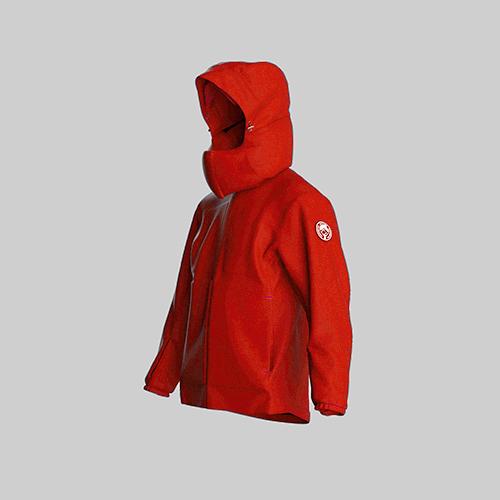 AirOgo|Ultralight Pilloon 多用途內附頸枕旅行外套 (男款) - 日出紅