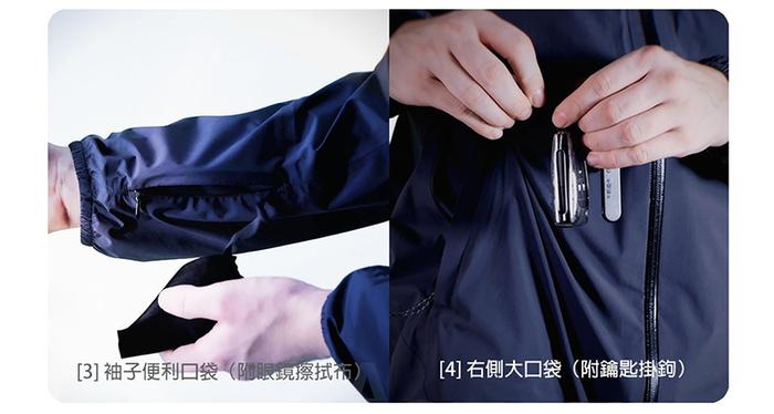 AirOgo|Ultralight Pilloon 多用途內附頸枕旅行外套 (男款) -   午夜黑