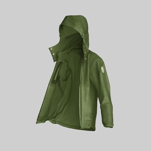 AirOgo Ultralight Pilloon 多用途內附頸枕旅行外套 (男款) -   橄欖綠