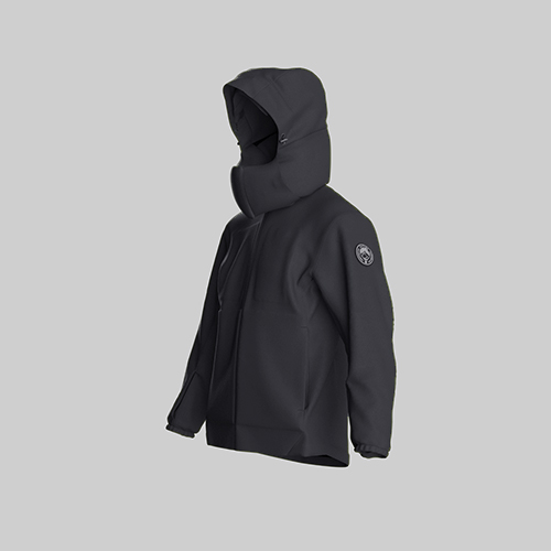 AirOgo Ultralight Pilloon 多用途內附頸枕旅行外套 (女款) -   午夜黑