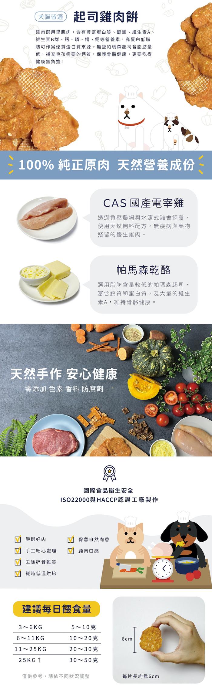 LINGO | 起司雞肉餅 天然手工寵物零食