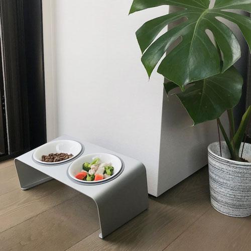 LINGO|鋁合金雙口寵物碗架