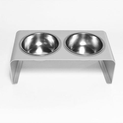 LINGO|鋁合金雙口寵物碗架 (福利品)